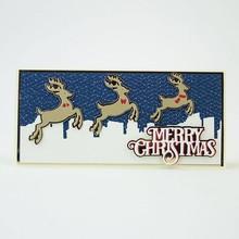 Stamping templates: 3 reindeer