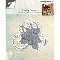 Stamping template: Holly with berries