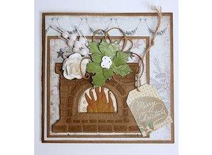 Joy!Crafts plantilla de perforación: Holly con bayas