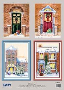 Bilder, 3D Bilder und ausgestanzte Teile usw... 3D Stanzbogenset Vinter portaler