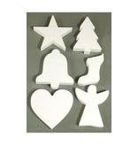 Objekten zum Dekorieren / objects for decorating 6 Weihnachtsmotive im Styropor