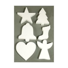 Objekten zum Dekorieren / objects for decorating 6 Christmas motifs in the Styrofoam