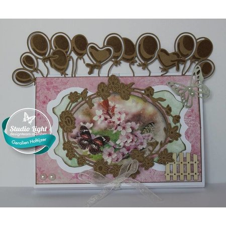 Stamping template: Party balloons
