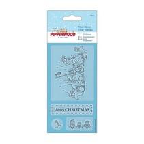 sellos transparentes, Pippi de madera de Navidad