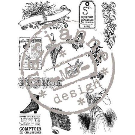 Stempel / Stamp: Transparent Gennemsigtig stempel, viktoriansk Vintage