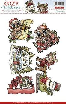 Stempel / Stamp: Transparent Gennemsigtig stempel, Yvonne Creations, sød Weihnachtsmotive