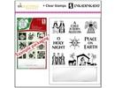 Stempel / Stamp: Transparent timbri trasparenti, motivi di Natale, tra cui blocco acrilico piccolo!