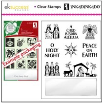 Transparent stamps, Christmas motifs including small acrylic block!