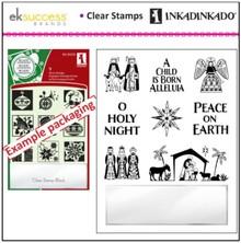 Stempel / Stamp: Transparent Transparent Stempel, Weihnachtsmotive inklusive kleine Acrylblock!