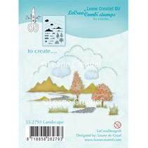 Transparante Stamp: Scène van de herfst, Kasteel
