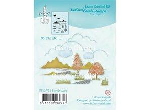 Leane Creatief - Lea'bilities Transparent stamp: autumn, scene, castle