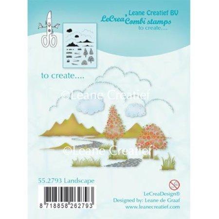 Leane Creatief - Lea'bilities Sello transparente: Escena del otoño, Castillo
