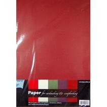 A4-papir med SET 25 ark i varme farger, 200gsm !!