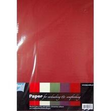 DESIGNER BLÖCKE  / DESIGNER PAPER A4 Papier SET mit 25 Bogen in warme Farben, 200gsm!!