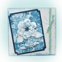 Leabilities, stamping - and embossing stencil, the multi flower blossom 008