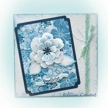 Leabilities, stempling - og prægning stencil, multi blomster 008