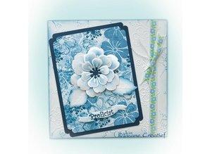 Leane Creatief - Lea'bilities Leabilities, stempling - og prægning stencil, nMultifunktions blomsten blomstre 008
