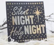 Schablonen und Zubehör für verschiedene Techniken / Templates Universal sjablonen, Silent Night