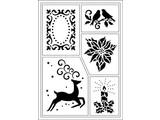Schablonen und Zubehör für verschiedene Techniken / Templates Flexibele Stencils, A5, Kerstthema