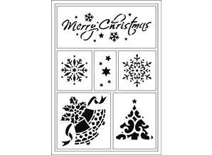 Schablonen und Zubehör für verschiedene Techniken / Templates Flexible Stencils, A5, Weihnachtsmotive