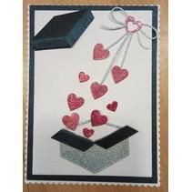 """Cutting dies: """"Heart bow"""" cardiac loop"""