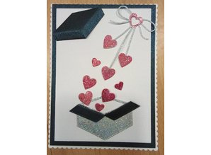 "Penny Black Cutting dies: ""Heart bow"" cardiac loop"