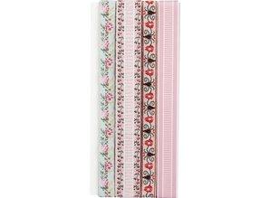 DEKOBAND / RIBBONS / RUBANS ... Dekorationsband: Embroidery flowers