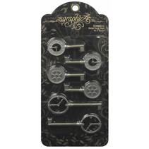 Chiavi eleganti orologi metallici squallidi