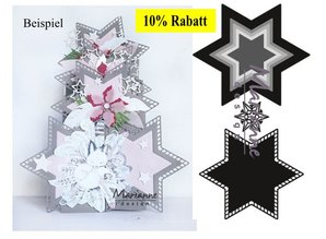 Marianne Design modello di punzonatura: sette stelle