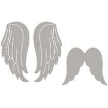 Punching template set: 2 angel wings