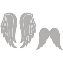 Punzonatura set modello: due ali d'angelo