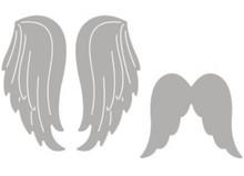 Spellbinders und Rayher La perforación de conjunto de plantillas: dos alas de ángel