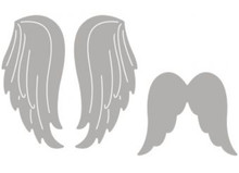 Spellbinders und Rayher Punching template set: 2 angel wings