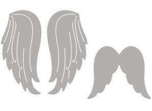 Spellbinders und Rayher Punzonatura set modello: due ali d'angelo