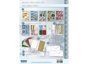 """BASTELSETS / CRAFT KITS: Komplet Sæt: 3D håndværk bog """"Christmas traditionelt"""""""