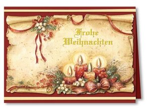 "BASTELSETS / CRAFT KITS: Komplettes Set: 3D-Bastelmappe ""Weihnachten traditionell"""