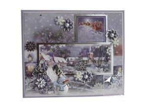 BASTELSETS / CRAFT KITS: Topper Conjunto de lujo para el diseño de diversas tarjetas de Navidad