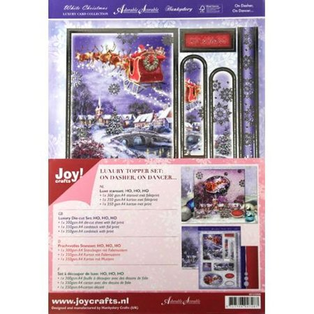 BASTELSETS / CRAFT KITS: Luxury Topper Set for the design of various Christmas cards
