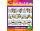 BASTELZUBEHÖR / CRAFT ACCESSORIES Magic shrink films, snowmen (⌀ 8 cm)