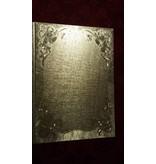 KARTEN und Zubehör / Cards 2 Doppelkarten in Metallgravur, farbe metallic, mit Glocke Motiv
