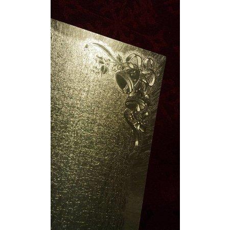 KARTEN und Zubehör / Cards 2 carte doppie in su metallo, colore metallico, con motivo campana