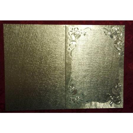 KARTEN und Zubehör / Cards 2 tarjetas dobles en grabado en metal, color metálico, con motivo de la campana