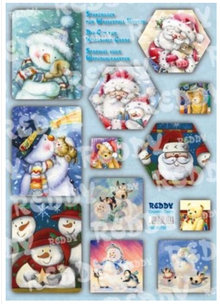 BASTELSETS / CRAFT KITS: Craft Kit Waterfall cards, snowmen, Santa Clauses