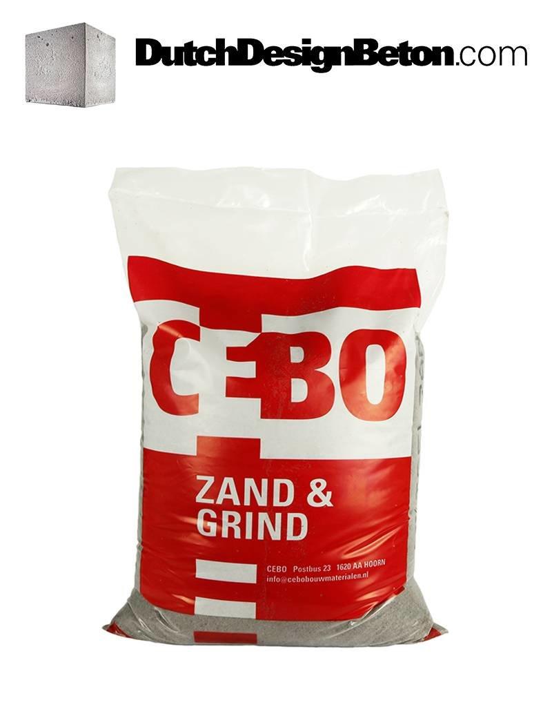 CEBO Gut zu verarbeitender Sand (ohne Salz) zur Herstellung von hochwertigem Beton.