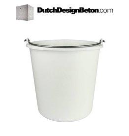 DutchDesignBeton.com Eimer Weiß