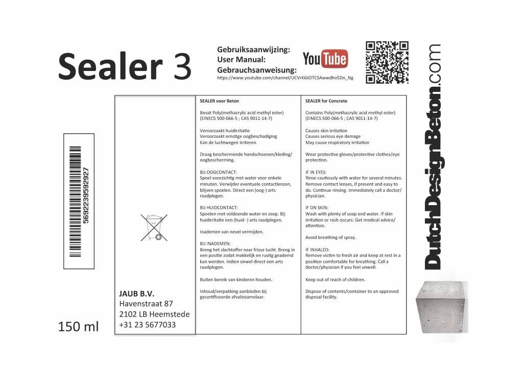 CRTE Stap 3 van het 3 staps Sealer systeem