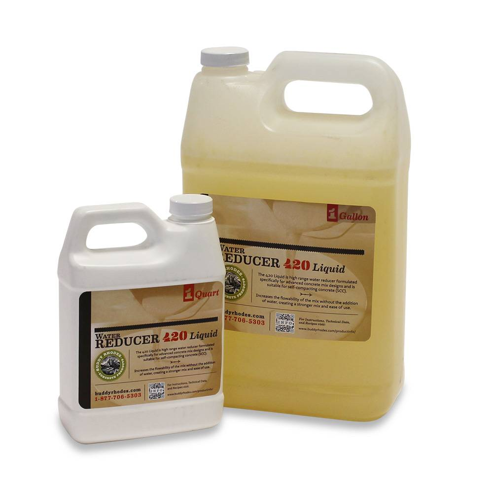 Buddy Rhodes Water Reducer 420, Supplement agent to decrease the use of water.