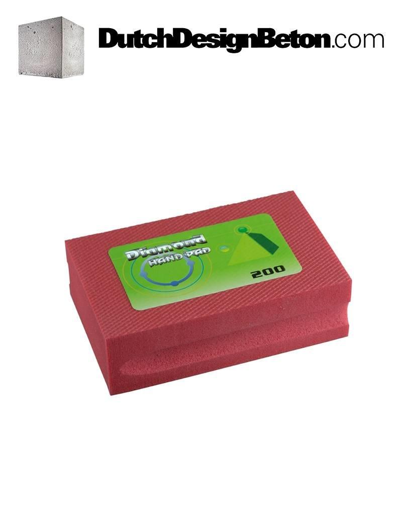CRTE CRTE Diamant Handschuurblok 200 (middel/rood) om beton mee te schuren