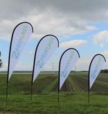 """Beach flag Flying L - 100x300cm (39"""" x 118"""")"""