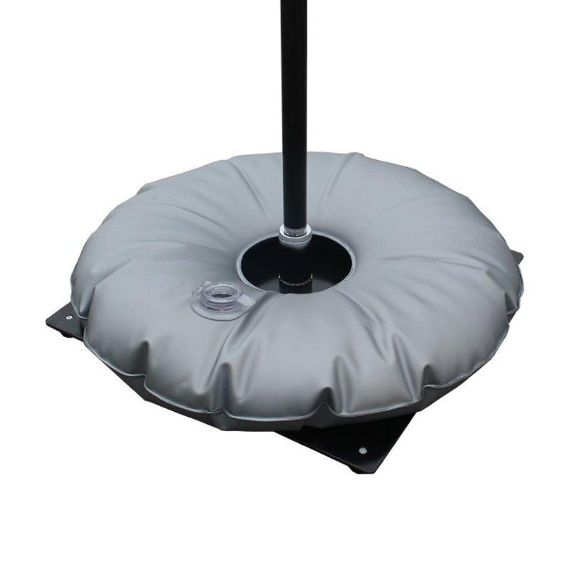 Placa de base com saco de água